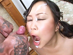 Asian Bella Ling pussy pounded hard by a thick dick