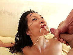Asa Akira's first hardcore DP scene EVER!!!