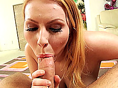 Lilly Lovely is horny while giving a POV blowjob